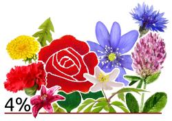 Bild på Valsamverkanspartiets blombukett