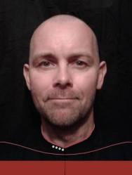 Bild på Martin i Star Trek-uniform